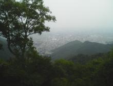 金華山の山頂から見る景色