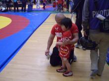 格闘親子と、のほほん母-1回戦
