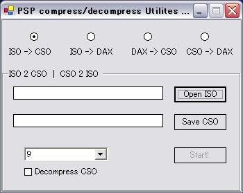 ISOファイルをCSOファイルに圧縮しよう! | 徒然なるPSP日記