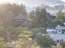上から見た銀閣寺