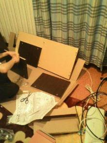 三日坊主を治す努力も三日までorz-テレビボード組立て1