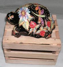 ウズベキスタン土産 on 木箱
