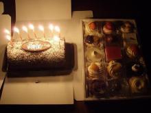 次女と私の誕生日ケーキ