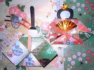 友禅和紙折り紙の手作り ひな ... : 雛人形 折り紙 折り方 難しい : 折り方