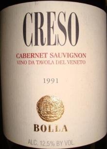 CRESO Cabernet Sauvignon Bolla 1991