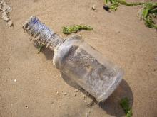 西中島 流れ着いた瓶