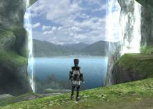 きれいな滝のある場所