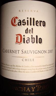 Casillero del Diablo Cabernet Sauvignon 2007