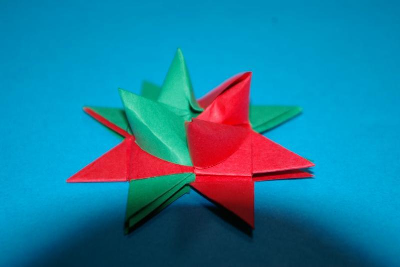 すべての折り紙 折り紙 クリスマスプレゼント : Froebel Star(フローベルスター ...