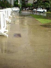 雨上がりの路面