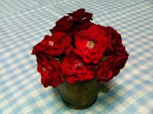 rose in bucket