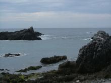 レース後の海