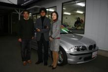 太田氏と妻と3人で