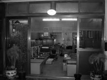 店舗白黒全景