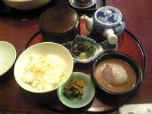 カルマンギアのある生活-鯛茶漬け