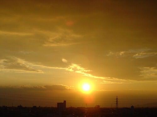 夕焼け空を見て。。。