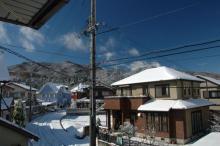 快晴の雪景色