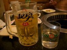 生ビールと真露