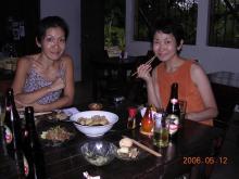 キリグアの宿・食事風景