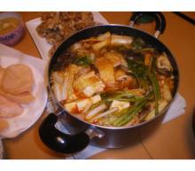 暑い日のキムチ鍋