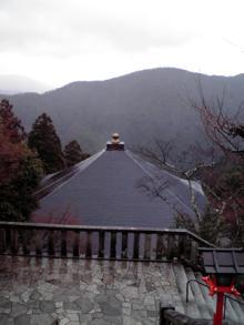 上賀茂からこんにちは。-鞍馬寺 本殿からの眺め