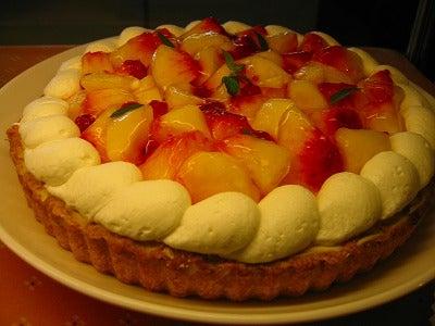 桃のチーズケーキ