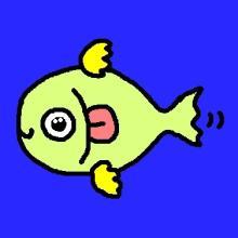目がぱっちりの魚