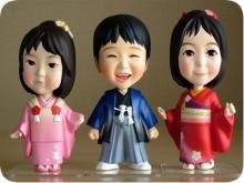七五三衣装人形