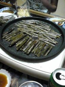 マテ貝の鉄板焼き
