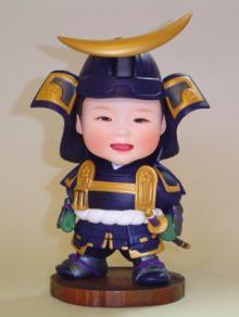 上賀茂からこんにちは。-そっくり人形 初節句記念 鎧武者