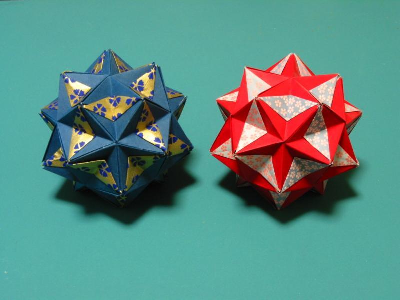 すべての折り紙 折り紙 まり 折り方 : なお、ユニットを組み合わせる ...