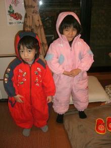 ★ ENA&YAYORI ★-スキーの準備