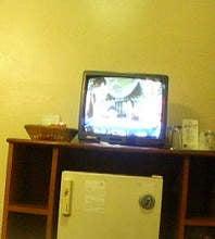 ホテルのテレビ。