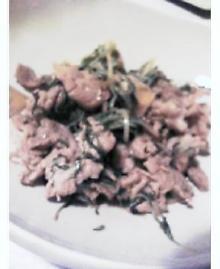 豚肉と水菜