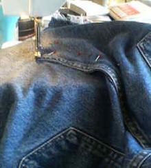 後ろも縫い縫い