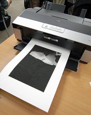 PX-5600でプリントアウトされた自分の写真