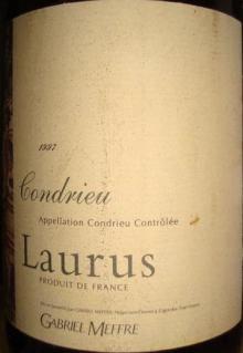 Laurus Condrieu GABRIEL MEFFRE 1997