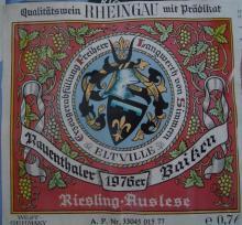 個人的ワインのブログ-Rauenthaler Baiken Rheingau Auslese 1976