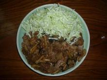 070119豚肉の生姜焼き