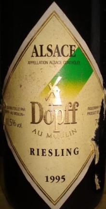 Alsace Dopff au Moulin Riesling 1995