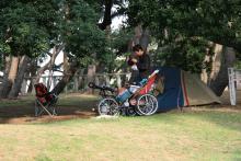 歩き人ふみとあゆみの徒歩世界旅行 日本・台湾編-職質を受けた公園