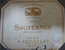 Sauternes 1986 CAKVET