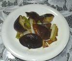 椎茸と長葱の中華風炒め