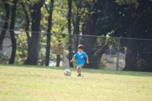 長男のサッカー姿