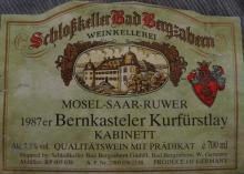 Bernkasteler Kurfurstlay 1987 Kabinett