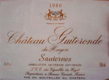 Chateau Guiteronde 1986