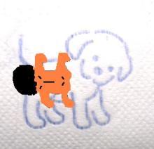 perro agarrado con un calato loco