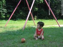 公園のわが息子