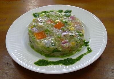 アマランサスと野菜のタルタル仕立て