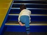 階段も登るよ
